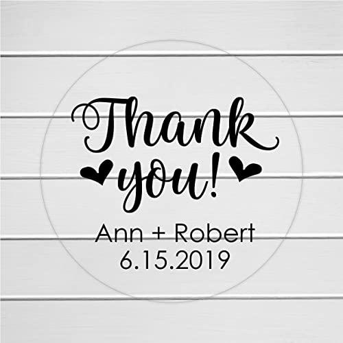Personalized thank you sticker thanks labels clear stickers transparent thank you stickers