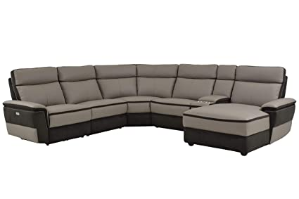 Amazon.com: Liberman 6PC Power Sectional w Non Power Armless ...