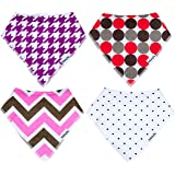 Bandana Bibs for Toddler Girls! New Style's! EXTRA ABSORBENT By THE BLUSHING BABY