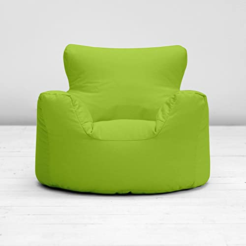 Apple Green Large L Childrens Kids Boys Girls 100% Cotton Bean Bag Beanbag Chair Seat With Filling