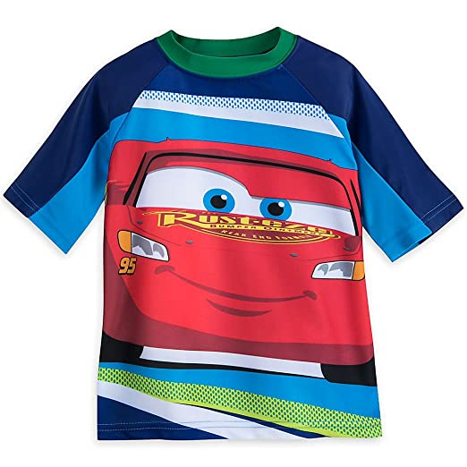 Amazon.com  Disney Lightning McQueen Rash Guard For Boys  Clothing d06b75f75
