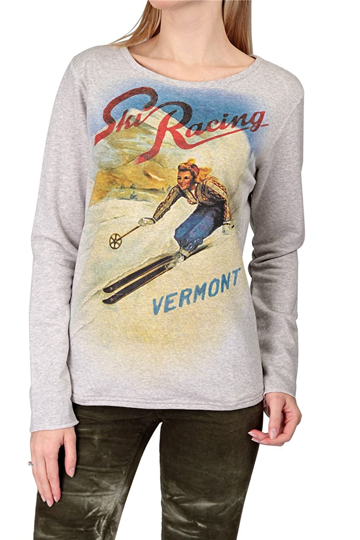 Hotspot Damen Sweatshirt SKI RACING 2, Farbe: Hellgrau