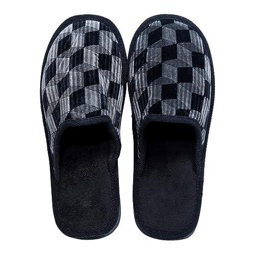 4b1f4b7a8ed5 Smart Bazaar Men s Women s Grey Velvet Cotton Non-Slip Soles Strip Slippers  -8