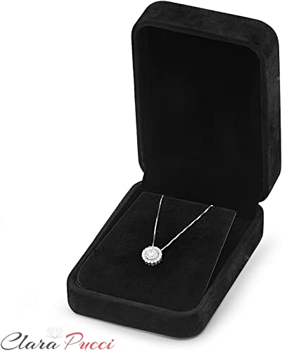 1.3 ct Brilliant Round Cut Halo Designer Genuine Flawless Simulated Blue Sapphire 14K 18K White Gold Pendant with 16 Chain