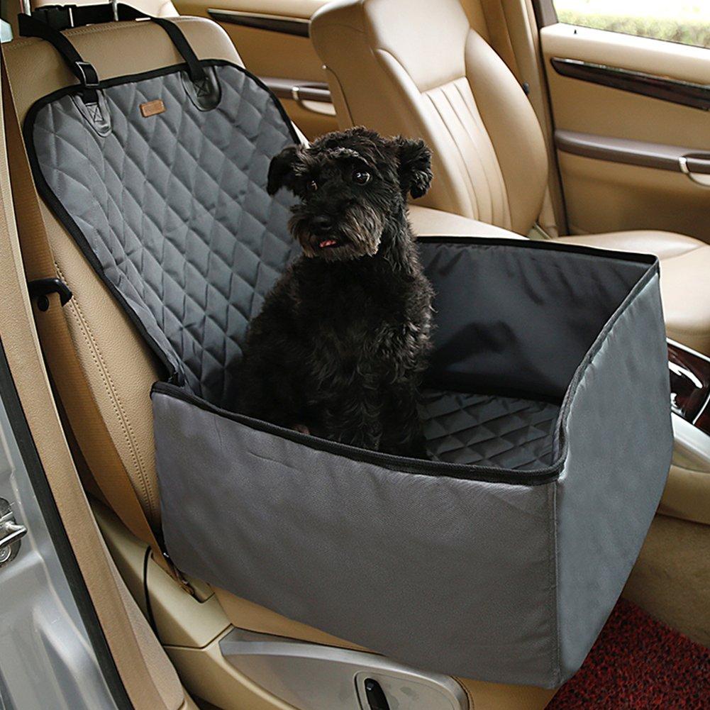 JIMS STORE Coprisedile per Cane Coprisedile Anteriore Singolo Coperta Telo per Proteggere Sedile di Automobile per Animali Domestici Antiscivolo ed Impermeabile Grigio