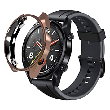 sciuU Funda para Huawei GT Active 46mm, Carcasa Protectora para Huawei GT Active Smart Watch, Flexible Suave TPU Protectora Resistente a los Golpes ...