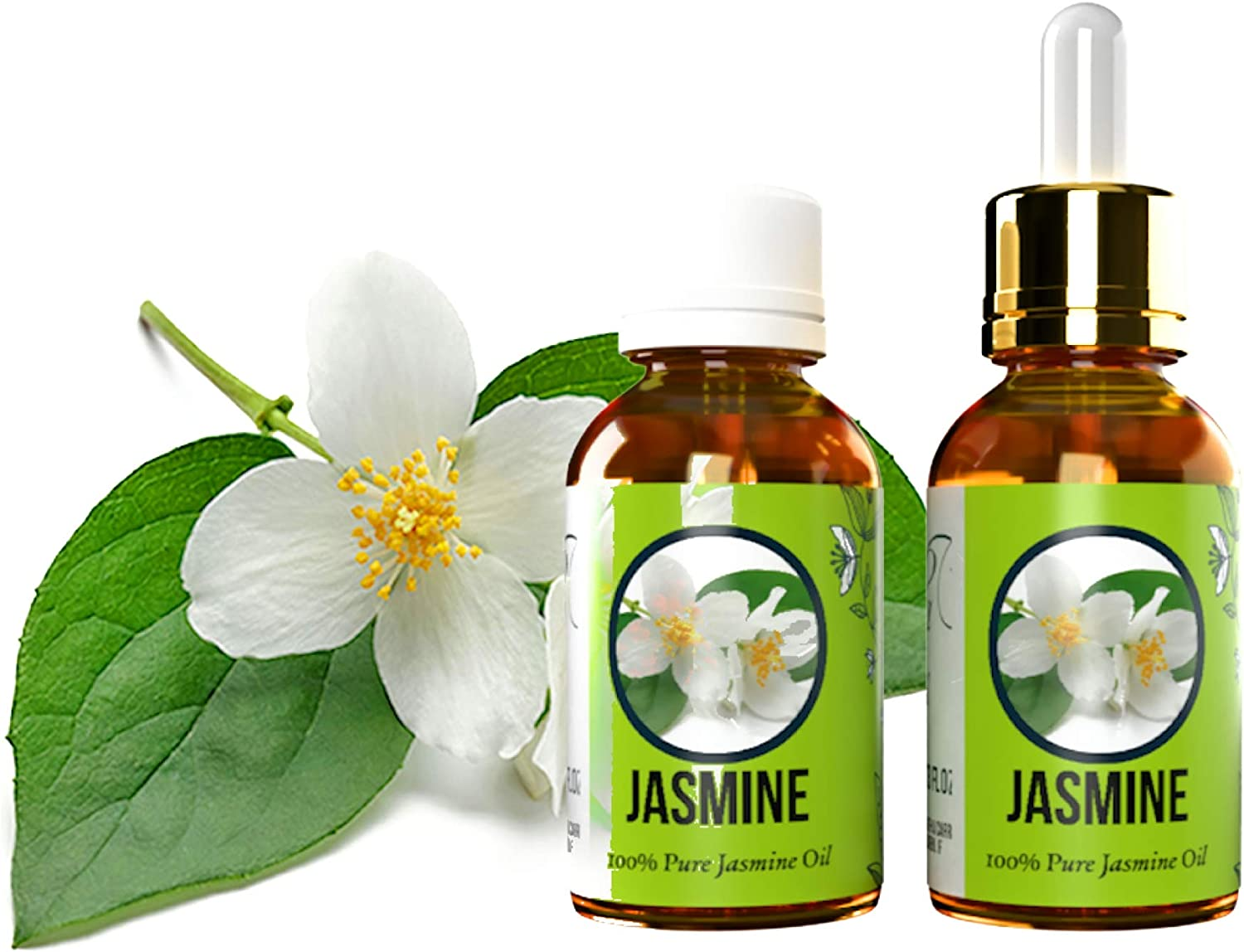 Aromazotika Jasmine Absolute Essential Oil - Pure, Natural, Therapeutic Grade & Undiluted (2 Bottles 10+10=20ml)