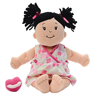 Manhattan Toy Baby Stella Black Hair Soft First Baby Doll, 15-Inch: Toys & Games