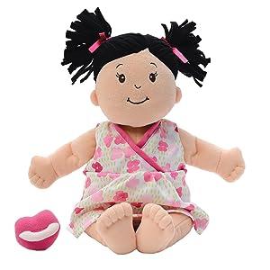 Manhattan Toy Baby Stella Brunette Soft First Baby Doll, 15-Inch
