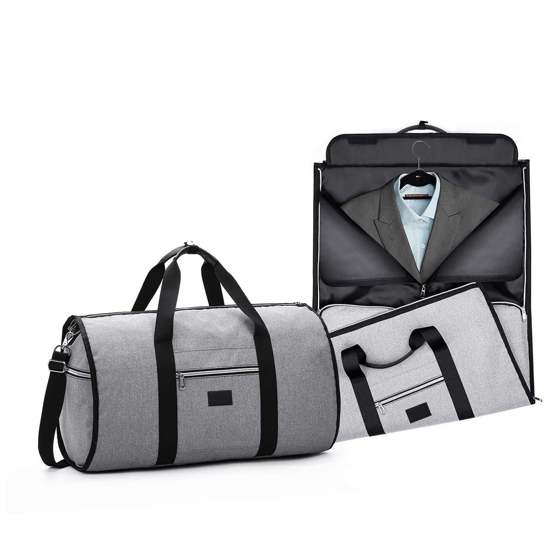 Bolsa Porta Trajes, Funda de Viaje para Traje con Compartimentos para Ropa y con Correa para el Hombro Ajustable, Garment Portatraje Ideal para ...
