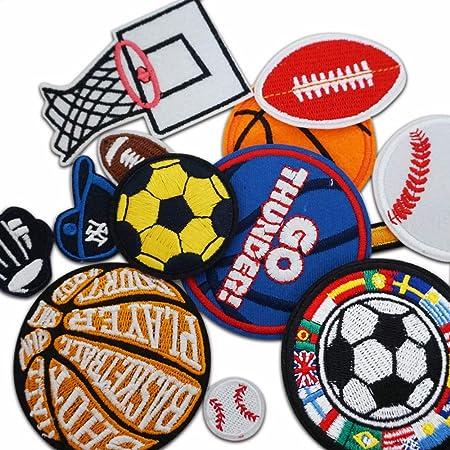 12 parches de pelotas de baloncesto, tenis, rugby, fútbol, parches ...