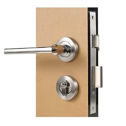 HWMATE - Cierre de cerradura para puerta de interior, doble lengua, mecánico