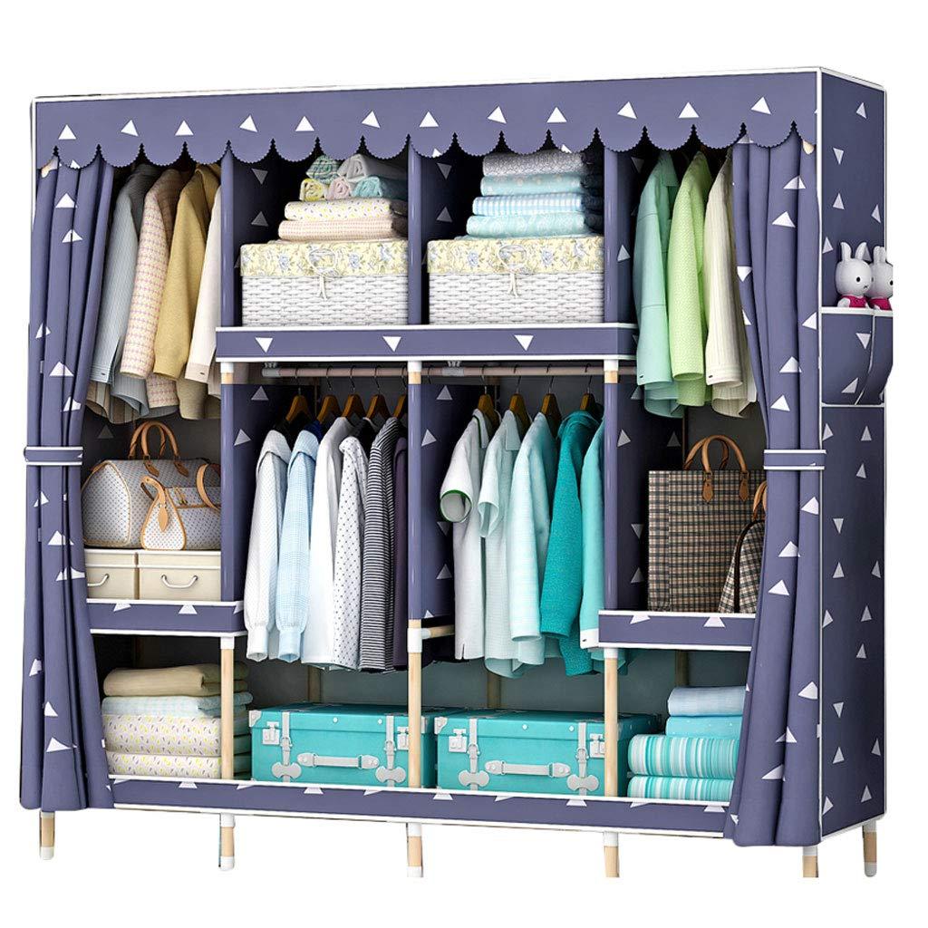 Simple wardrobe Wardrobe Simple Cabinet Solid Wood Storage Assembly 16545170cm Wardrobe (Color : A)