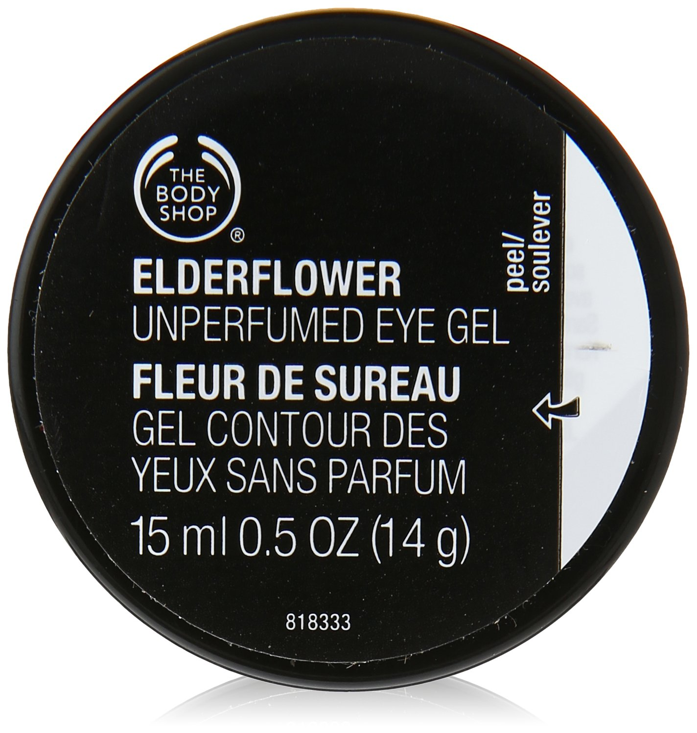 The Body Shop Elderflower Cooling Eye Gel, 0.5 Fl Oz