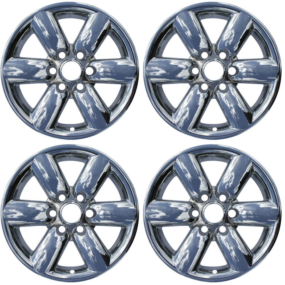 OxGord 18 inch Hubcap Wheel Skins for 2008-2015 Nissan Titan-(Set of 4) Wheel Covers- Car Accessories for 18inch Chrome Wheels- Auto Tire Replacement ...