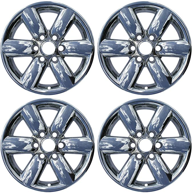Amazon.com: OxGord 18 inch Hubcap Wheel Skins for 2008-2015 Nissan Titan-(Set of 4) Wheel Covers- Car Accessories for 18inch Chrome Wheels- Auto Tire ...
