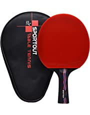 ITTF Approved Table Tennis Bat, Professional Pingpong Racket Paddle with Case, 9-ply Wood and 8-ply Carbon Blade