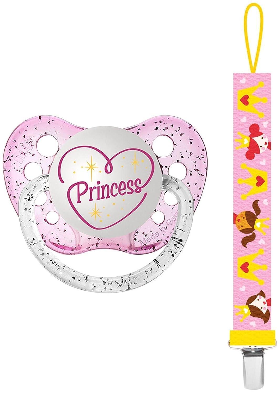 Amazon.com: Ulubulu Chupete con clip, princesa: Baby