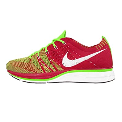 e7e07f5388f9 Nike Men s Flyknit Trainer+ Running Shoes. Size 7. University RED Electric  Green-