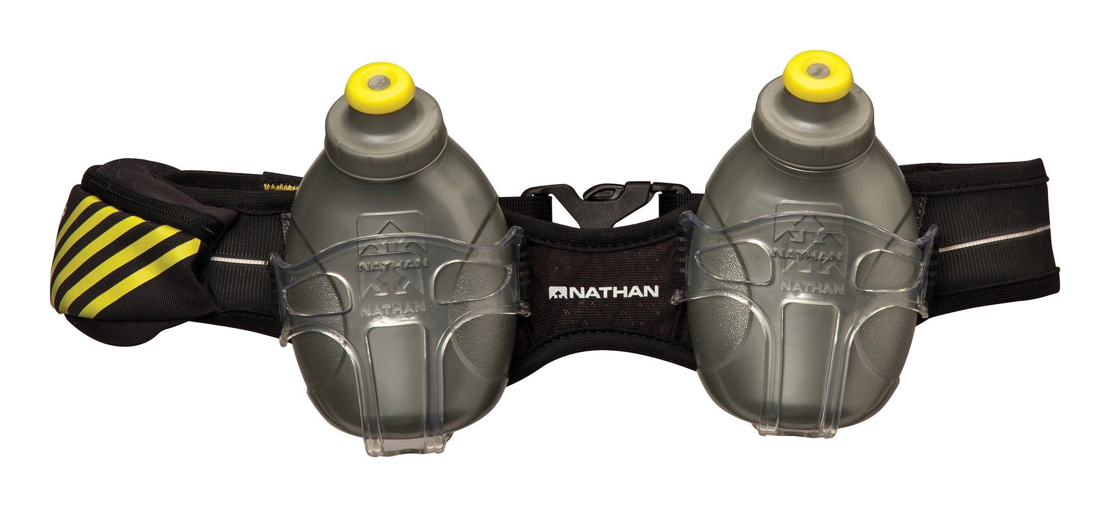 Nathan Mercury 2 Bottle Hydration Belt, Black, One Size