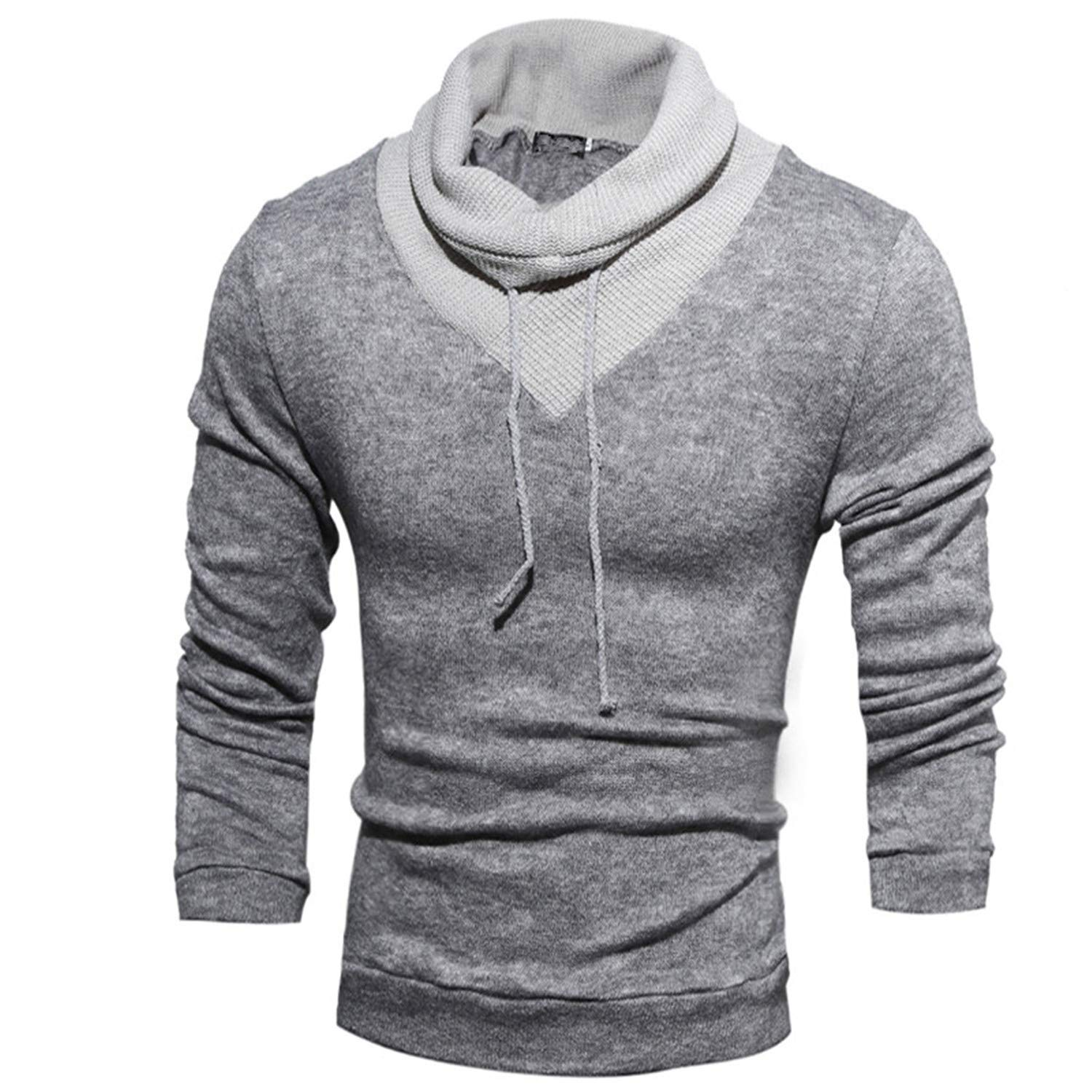 Giles Abbot Sweater Pullover Men Male Casual Slim Sweaters Men Soild Color Hedging