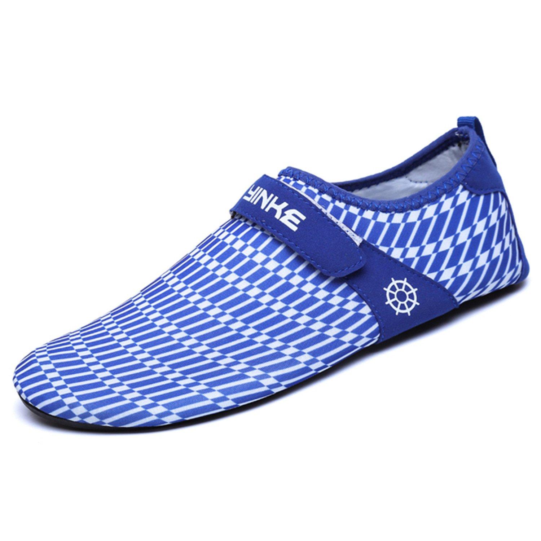 SAGUARO Strandschuhe Badeschuhe Aquaschuhe Schwimmschuhe Rutschfeste Atmungsaktiv Leicht Barfuß Schuhe mit Klettverschluss für Damen Herren