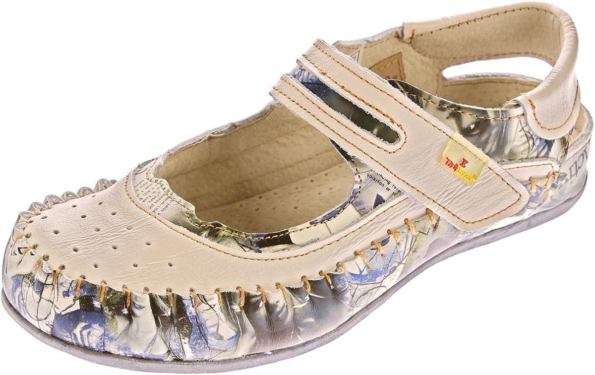 TMA Damen Leder Ballerinas Echtleder Slipper Comfort Schuhe Sandalen 5068 Gr. 36 42