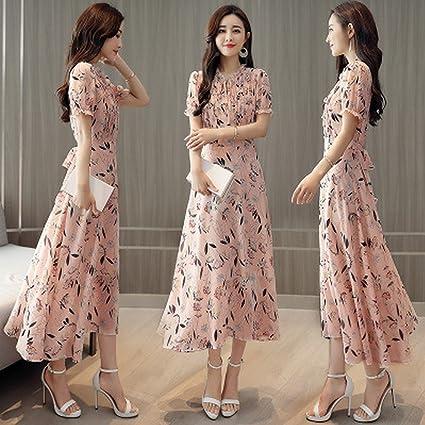 3ac48fccde Temperamento Floral Gasa Vestido Mujer Primavera Vestidos Primavera  Vestidos Vestidos Largos Verano