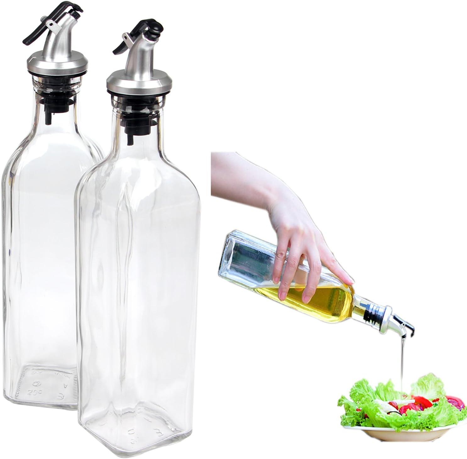 Cruet Oil Dispenser Botella de vidrio para cocinar Contenedor Bote Botella dispensador de aceite