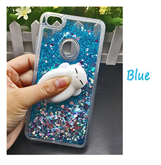 65bc09eab38 HogontaCute 3D Squishy Cat Case For Xiaomi 5 Mi6 Redmi 4 X 4A Note 4 3 4X  Luxury Glitter Quicksand Phone Cases Redmi Note 5A Prime Case Squishy  Glitter Blue ...