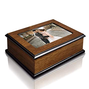 Amazoncom Ikee Design Wooden Glossy Musical Jewelry Box With 4x6