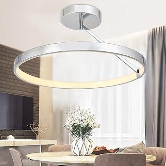 Deckenleuchte chrom LED Metall Modern Warmweiß dimmbar