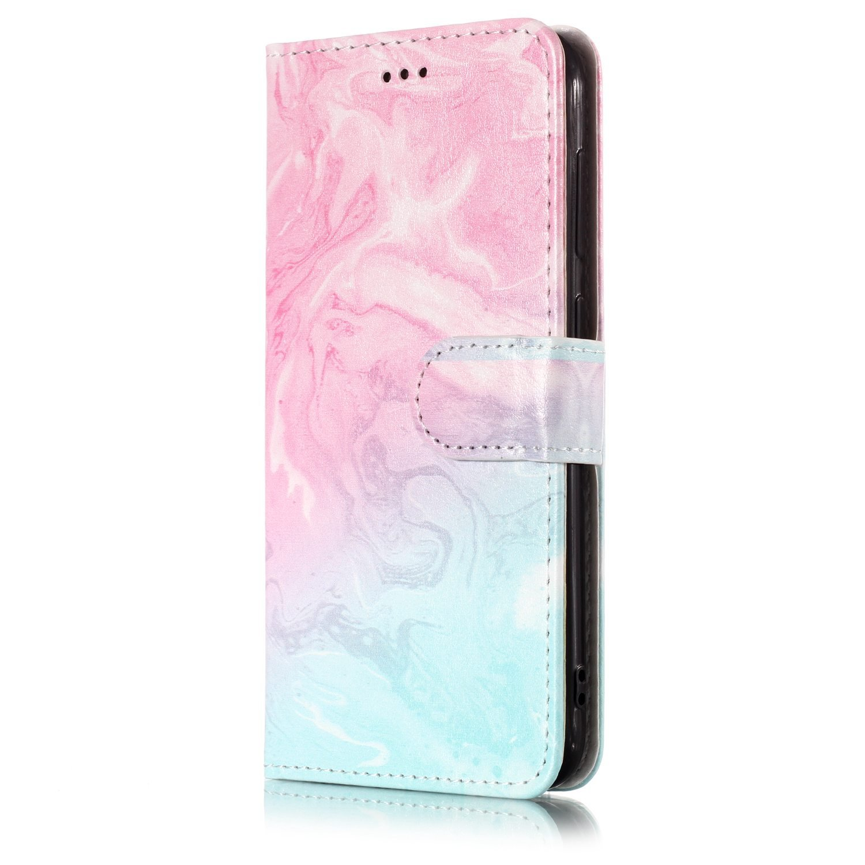Felfy Kompatibel mit Huawei P9 Lite Mini H/ülle Flip Case H/ülle Leder Flip Wallet Cover Marmor Blume Multi-Function Protektiv Kunstleder Sto/ßfest Bumper mit Kartenhalter Klappst/änder Tasche