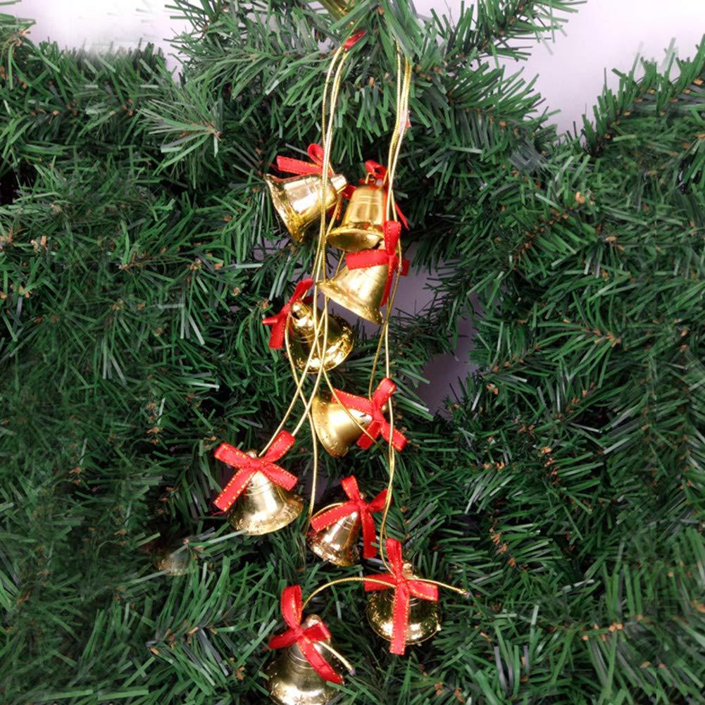 Campanas Navidad 20 cascabeles Golden Abrazaderas Campanas de Cobre Manualidades y 2 cuerdas de oro para Campanas De Viento Cascabeles Artesanal Decoraci/ón De /árbol De Navidad Joyas Manualidades