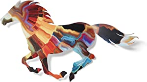 Next Innovations 3D Metal Wall Art - Running Horse Farmhouse Wall Decor - Colorful Horse Wall Art - Handmade in The USA for Use Indoors or Outdoors