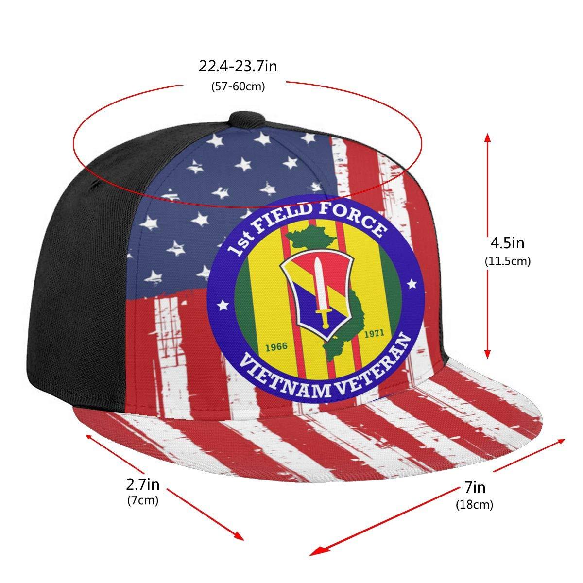 1st Field Force Vietnam Veteran Unisex Adult Hats Classic Baseball Caps Peaked Cap