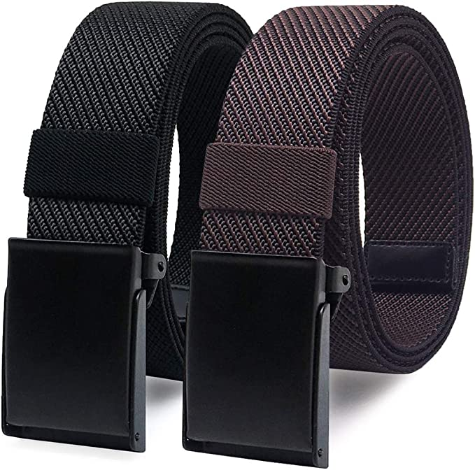 """Nylon Woven Buckle Belts casual smart adjustable fit up to waist 48/"""""""
