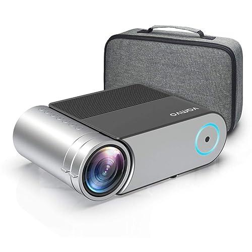 Proyector Vamvo Proyector Cine en Casa Portátil L4200 con Dolby Mini Proyector 4000 Lúmenes 1280 720p Soporte Full HD 1080p de 50000 Horas Compatible con HDMI VGA AV USB etc