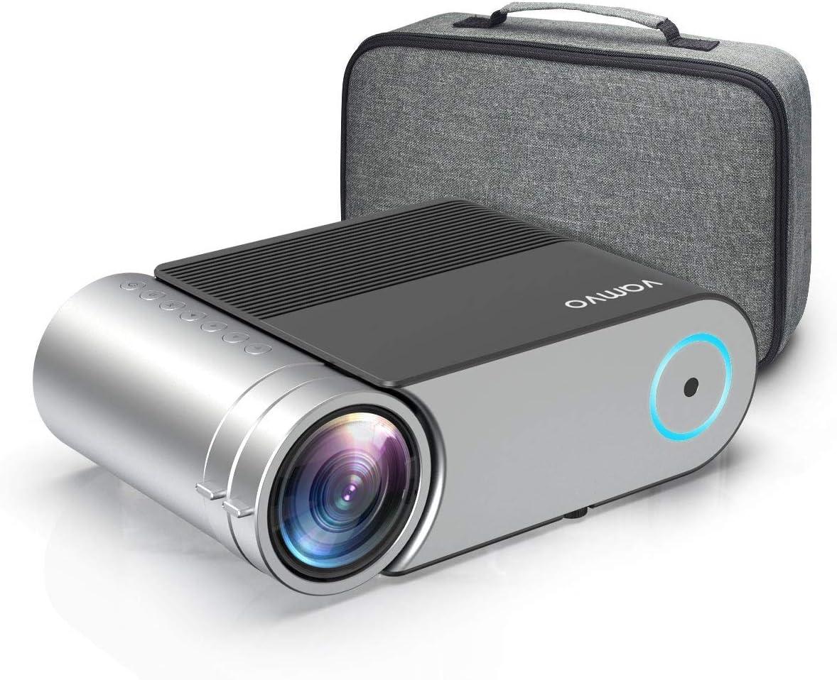 Proyector, Vamvo Proyector Cine en Casa Portátil L4200, Mini Proyector 4000 Lúmenes 1280*720p, Soporte Full HD 1080p de 50000 Horas, Compatible con HDMI, VGA, AV, USB etc.