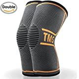 Sports Knee Compression Sleeve(1 pair)-Effective Support for Running ,Jogging,Biking ,Walking, Joint Pain and Arthritis Relief,Faster Injury Recovery