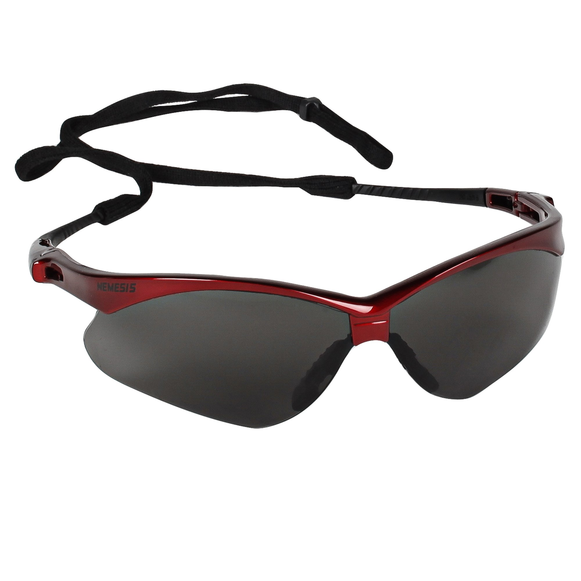 KLEENGUARD V30 Nemesis Safety Glasses (22611), Smoke Anti-Fog Lens, Red Frame, 12 Pairs / Case by KLEENGUARD