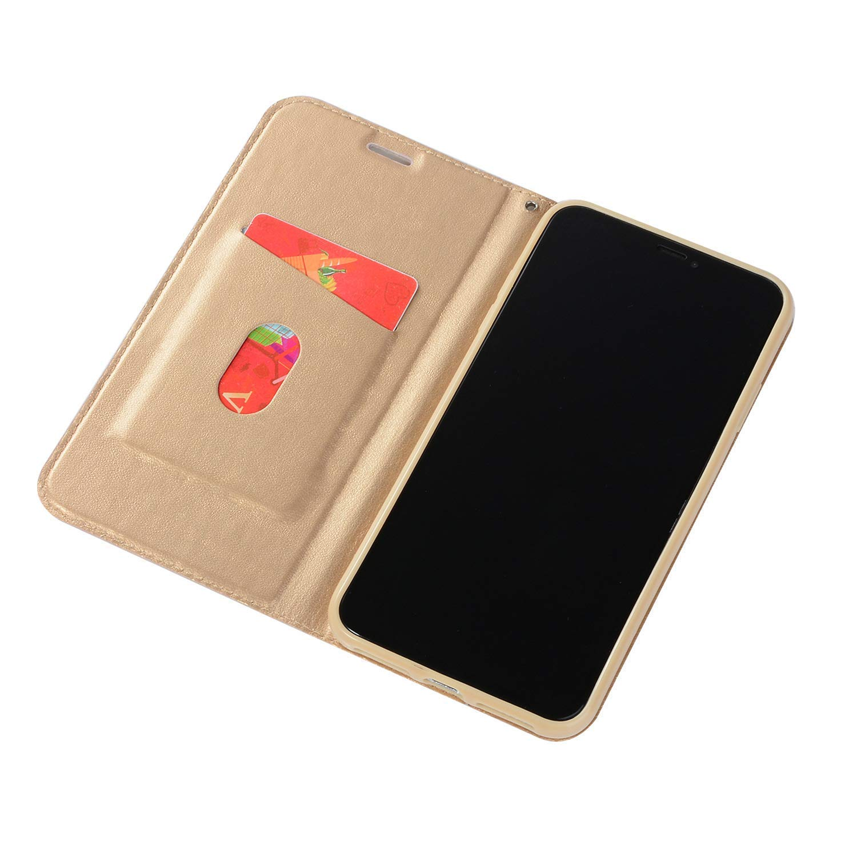 SainCat Kompatibel mit Samsung Galaxy S7 H/ülle Leder Flip Case Glitzer Strass Ultra D/ünn Sch/ützh/ülle Sto/ßfest Handyh/ülle Weicher Bookstyle PU Ledertasche-Schwarz