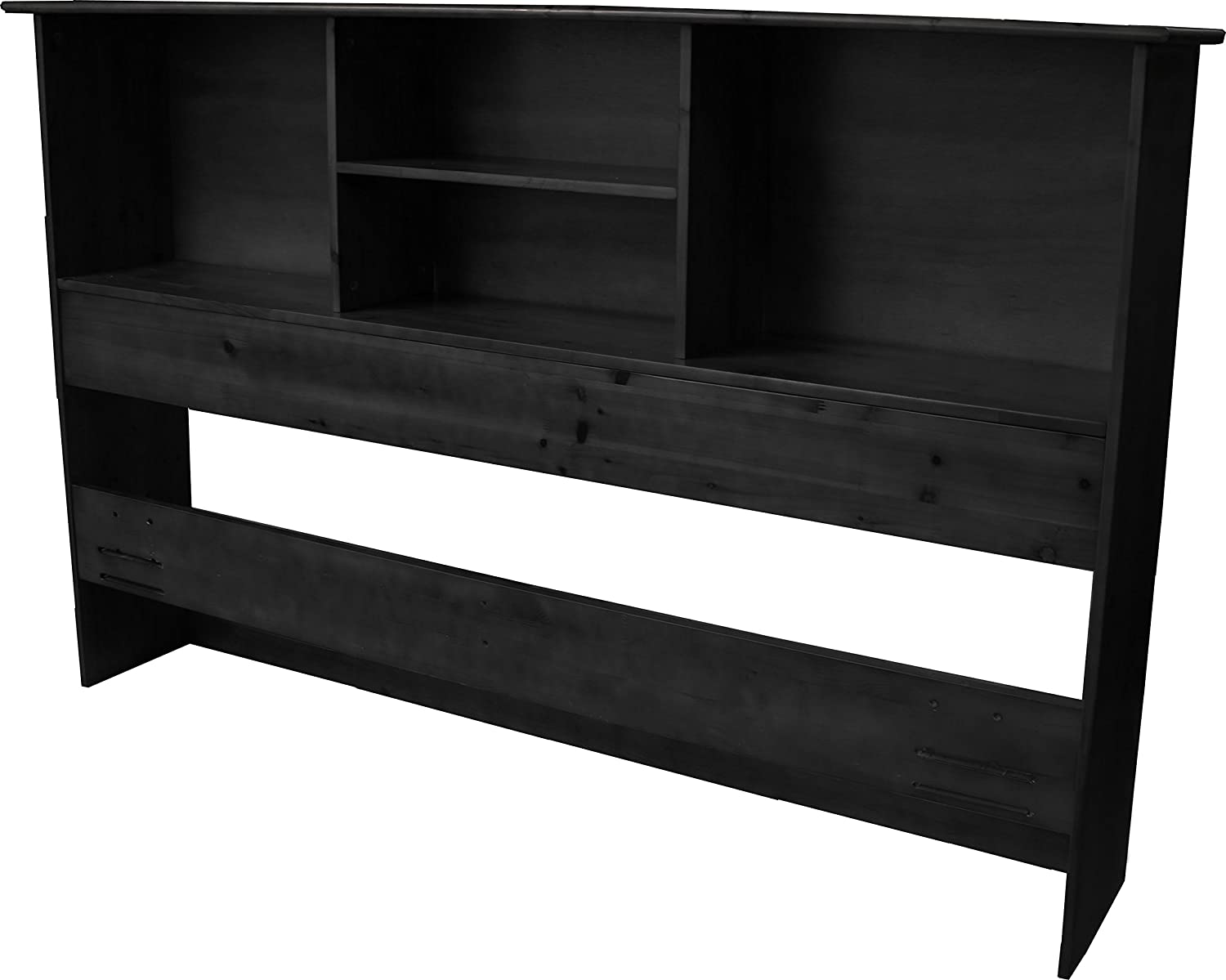 Stockholm Bamboo Solid Bookcase Headboard, Full/Queen-size, Black Epic Furnishings - DROPSHIP BookFuBk
