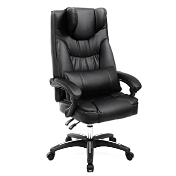 Amazon.com : SONGMICS Extra Large Office Chair Executive Gaming ...