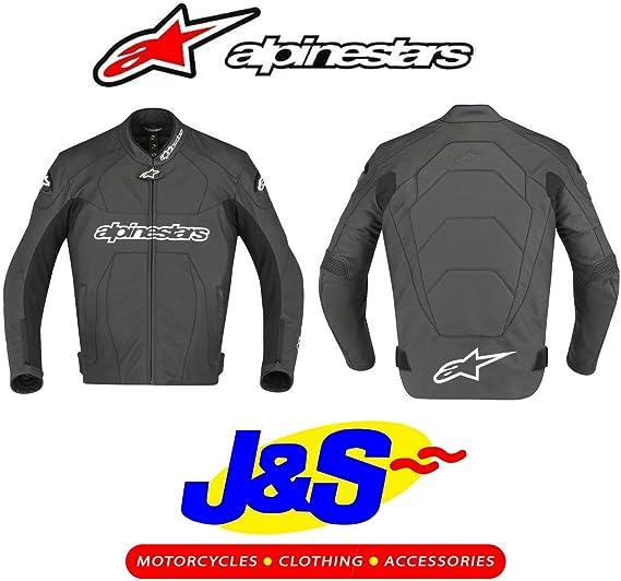 48 Alpinestars GP Plus R Black Leather Motorcycle//Motorbike Jacket