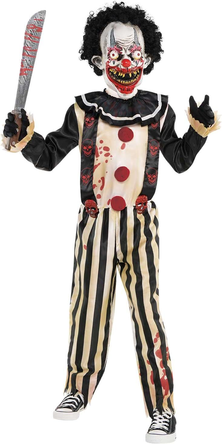 amscan Clown Costume Pc Scary Slasher-Disfraz de payaso para niños ...