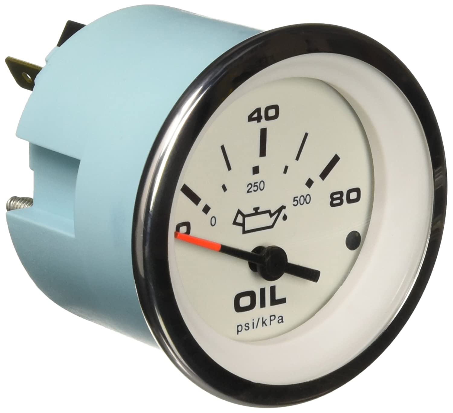 Sierra International 65501P Lido 0 to 80 Psi Dial Range Scratch Resistant Electric Oil Pressure Gauge, 2' 2 Teleflex