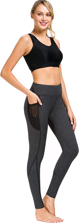 Prosske Herren Fitnesshose Leggings Tights Sportleggings Laufhose mit Taschen