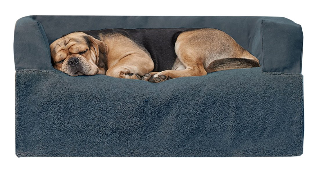 PawTex 08406200789KM Premium Couch Cover Dog Bed, 40 , Medium Large, bluee