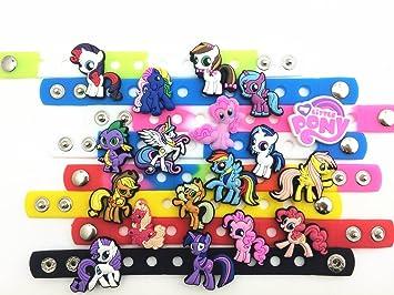 12c57f9f9 26pcs NEW Cute My Little Pony Shoe Charms for Fit Croc   Wristband Bracelet  Kids Party